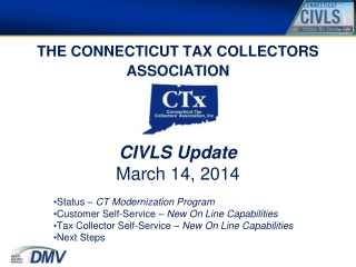 THE CONNECTICUT TAX COLLECTORS ASSOCIATION