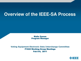 Overview of the IEEE-SA Process