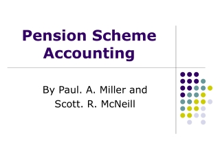 Pension Scheme Accounting