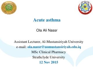 Acute asthma Ola Ali Nassr