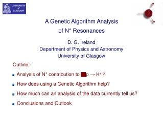 A Genetic Algorithm Analysis of N* Resonances