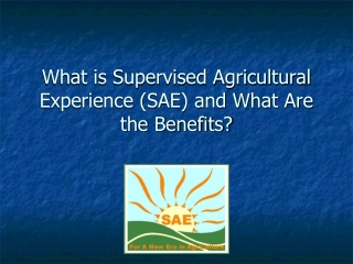 What is Supervised Agricultural Experience (SAE) and What Are the Benefits?