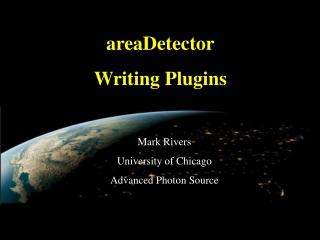 areaDetector Writing Plugins