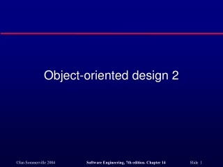 Object-oriented design 2