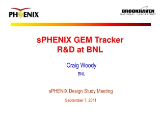 sPHENIX GEM Tracker R&D at BNL