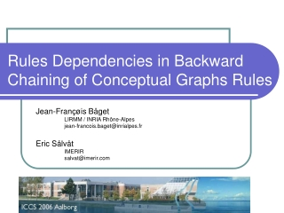 Rules Dependencies in Backward Chaining of Conceptual Graphs Rules