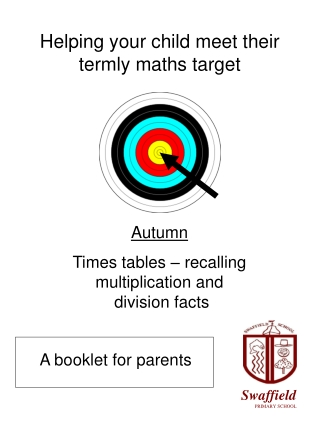 Helping your child meet their  termly maths target