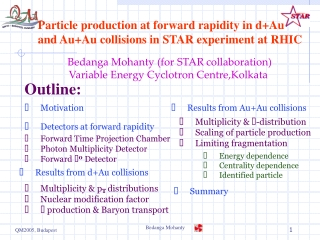 Particle production at forward rapidity in d+Au  and Au+Au collisions in STAR experiment at RHIC