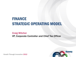 FINANCE STRATEGIC OPERATING MODEL