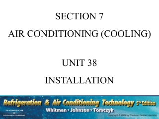 SECTION 7 AIR CONDITIONING (COOLING) UNIT 38 INSTALLATION