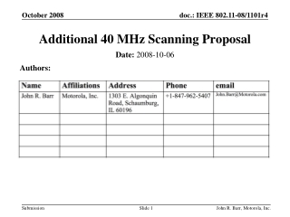 Additional 40 MHz Scanning Proposal