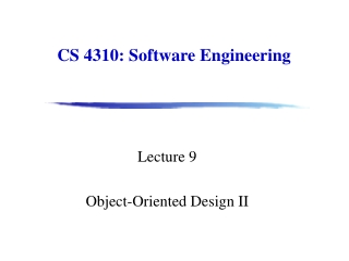 CS 4310: Software Engineering