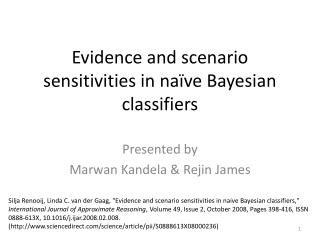 Evidence and scenario sensitivities in naïve Bayesian classifiers