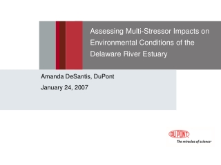Assessing Multi-Stressor Impacts on Environmental Conditions of the Delaware River Estuary