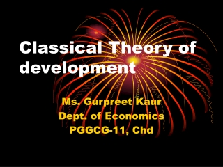 Classical Theory of development