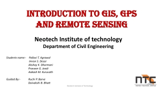 Introduction to GIS, GPS and remote sensing