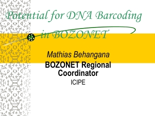 Potential for DNA Barcoding in BOZONET