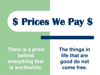 $ Prices We Pay $