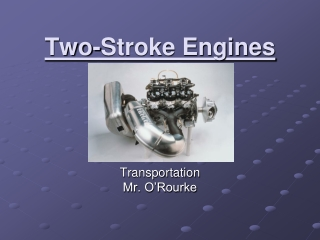 Two-Stroke Engines