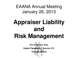 EAANA Annual Meeting   January 26, 2013