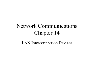 Network Communications Chapter 14
