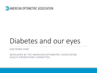 Diabetes and our eyes