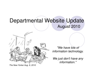 Departmental Website Update