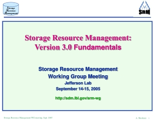 Storage Resource Management: Version 3.0  Fundamentals Storage Resource Management