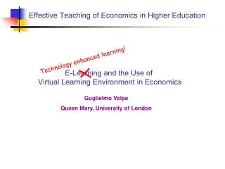 Effective Teaching of Economics in Higher Education