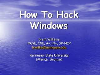 How To Hack Windows