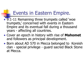 Events in Eastern Empire.