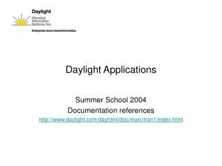 Daylight Applications