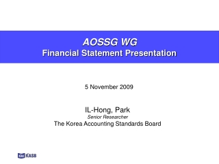 AOSSG WG  Financial Statement Presentation