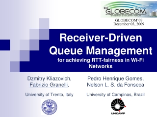 Receiver-Driven Queue Management for achieving RTT-fairness in Wi-Fi Networks