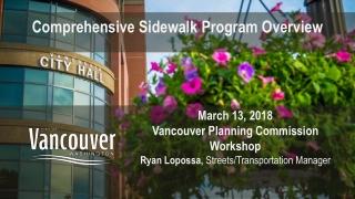 Comprehensive Sidewalk Program Overview
