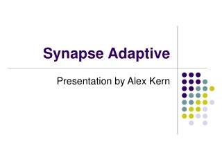 Synapse Adaptive