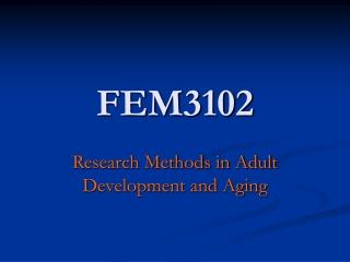FEM3102