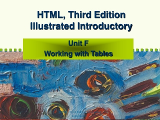 HTML, Third Edition Illustrated Introductory