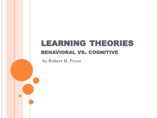 learning theories behavioral vs. cognitive