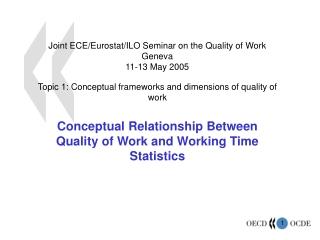 Joint ECE/Eurostat/ILO Seminar on the Quality of Work Geneva 11-13 May 2005