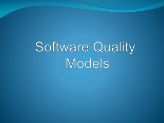 Software Quality Models