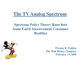 The TV Analog Spectrum