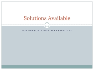 Solutions Available