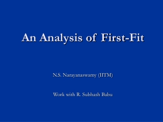 An Analysis of First-Fit