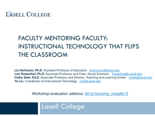 FACULTY MENTORING FACULTY: INSTRUCTIONAL TECHNOLOGY THAT FLIPS THE CLASSROOM