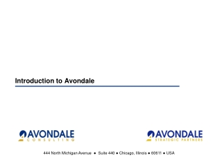 Introduction to Avondale