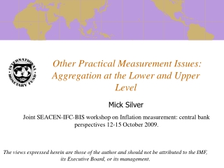 Other Practical Measurement Issues: Aggregation at the Lower and Upper Level