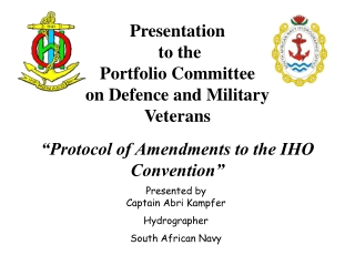 Presentation   to the Portfolio Committee on Defence and Military Veterans