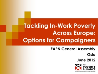 Tackling In-Work Poverty Across Europe:  Options for Campaigners