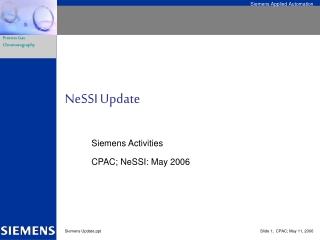 NeSSI Update